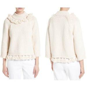 NWOT Kate Spade ♠️ tassel trim slub cotton sweater